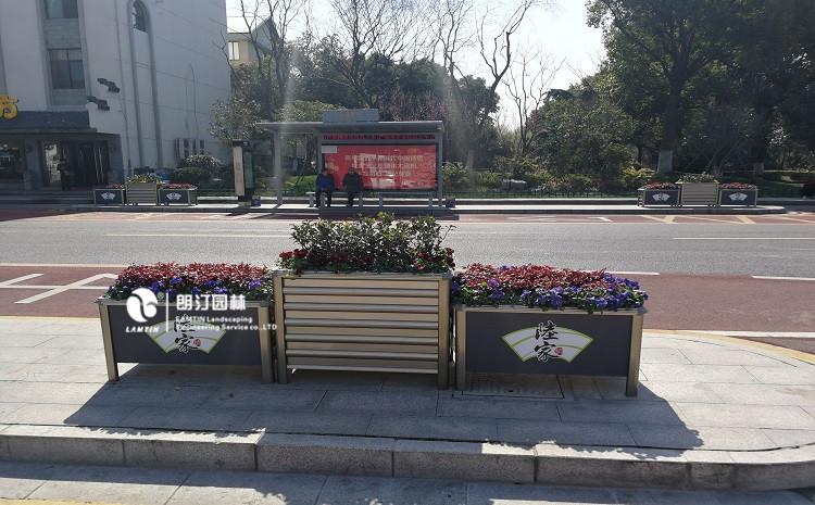 朗汀户外花箱-植物墙花盆进驻昆山陆家镇