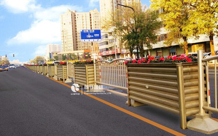 河南商丘道路绿化案例