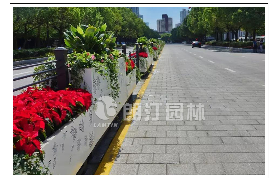 道路隔离春泥花箱护栏